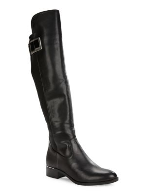 Cyra Knee-High Leather Boots by Calvin Klein