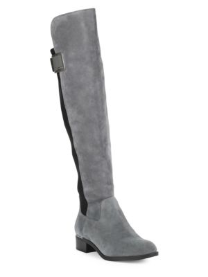 Buy Suede Knee-High Boots by Calvin Klein online
