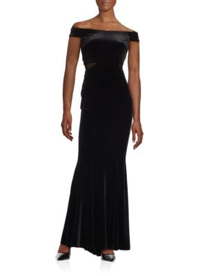 Off-the-Shoulder Velvet Gown by Xscape