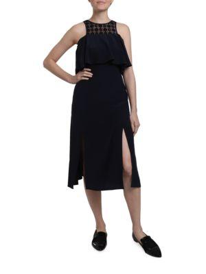 Amie Silk A-Line Dress by Cosette