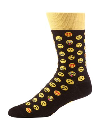 Emoticon Crew Socks @...