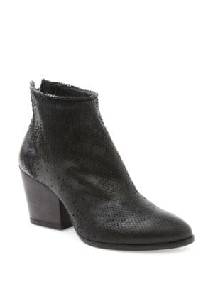Fifi Snake Textured Ankle Boots by Andre Assous
