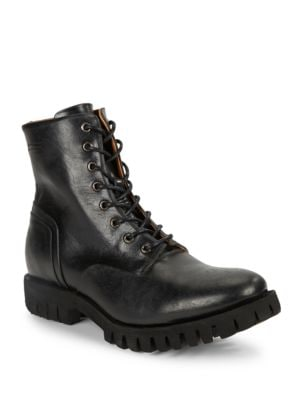 Depp Lace-Up Leather Boots by Diesel