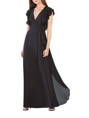 Callie Ruffled Gown by BCBGMAXAZRIA