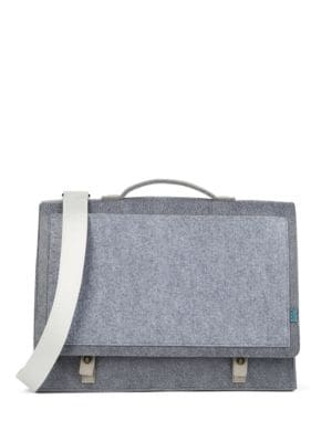 Mateo Felt and Microfiber Briefcase by M R K T