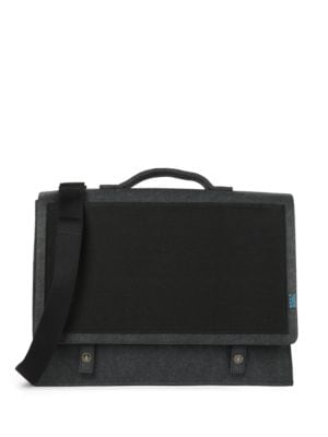 Mateo Felt and Microsuede Briefcase by M R K T