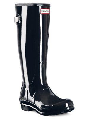 Original Back-Adjustable Gloss Rain Boots by Hunter