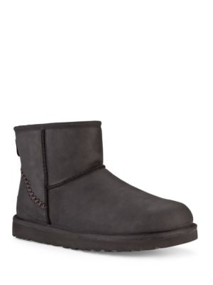 Classic Mini Shearling-Lined Leather Boots by UGG