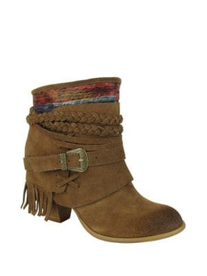 Saddle Baggin Suede Booties by Naughty Monkey