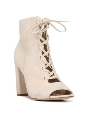 Yvie Peep Toe Ankle Boots by Sam Edelman