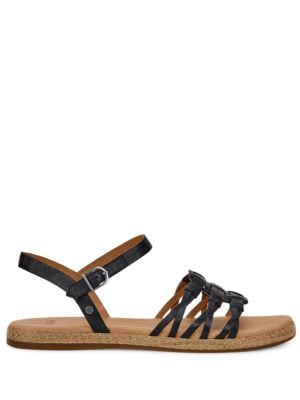Larisa Leather Ankle Strap Sandals by UGG