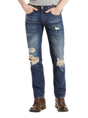 511 Slim Fit Distressed Jeans by Levi's