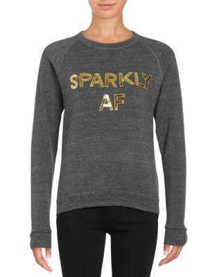 Sparkly AF Pullover @...