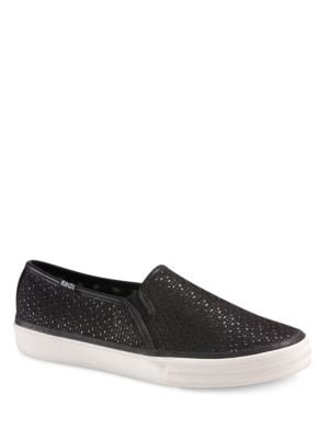 Double Decker Boucle Slip-On Sneakers by Keds