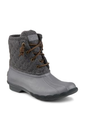 Saltwater Quilted Wool-Blend Boots by Sperry