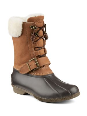 Saltwater Misty Thinsulate Shearling Leather-Blend Winter Boots by Sperry