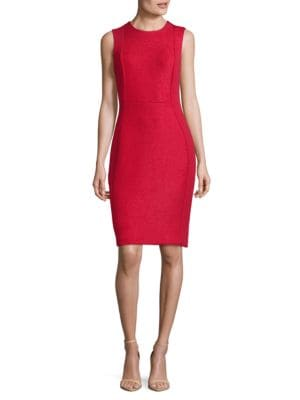 Metallic Sleeveless Sheath Dress by Calvin Klein