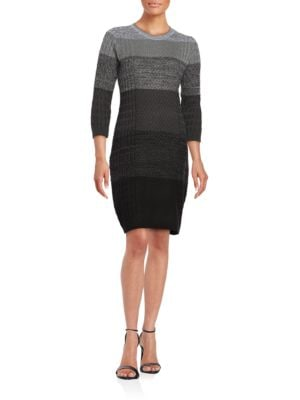 Photo of Calvin Klein Cable-Knit Sweater Dress