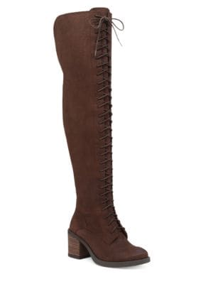 Riddick Leather Over-the-Knee Boots by Lucky Brand