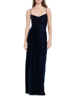 Open-Back Velvet Gown by Lauren Ralph Lauren