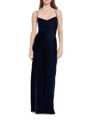 Open-Back Velvet Gown by Lauren Ralph Lauren