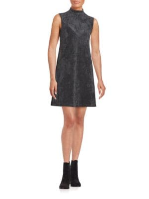 Faux Suede Shift Dress by Ivanka Trump