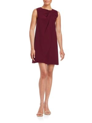 Sleeveless Bow Accented Shift Dress by Erin Fetherston