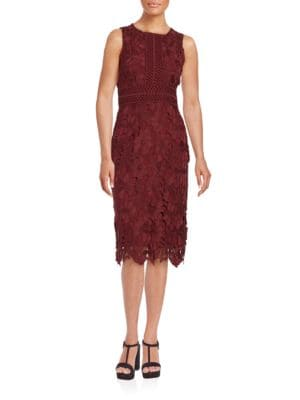 Sleeveless Lace Sheath Dress by Erin Fetherston