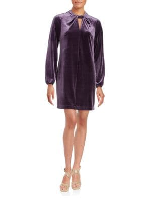 Taylor Twistneck Long Sleeved Velvet Dress by Cynthia Steffe