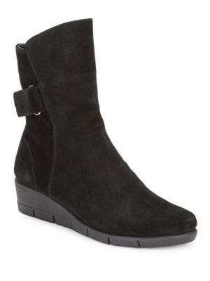 Waterproof Suede Wedge Boots by The Flexx