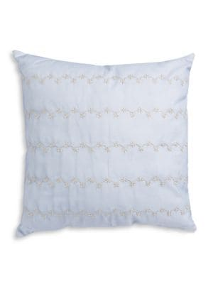 Kensington Metallic FloralEmbroidered Decorative Pillow