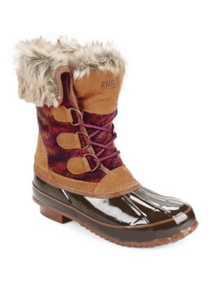 Julliard Faux Fur Accented Duck Boots by Khombu
