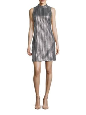 Embroidered Sleeveless Shift Dress by Guess