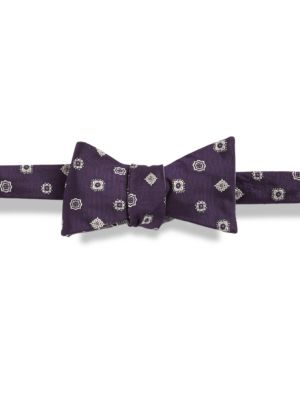 Patterned Silk Bow Tie...