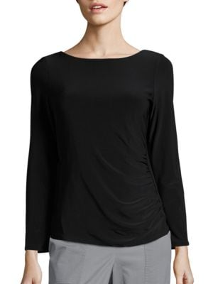 Scoopback Long Sleeved Evening Top by Marina