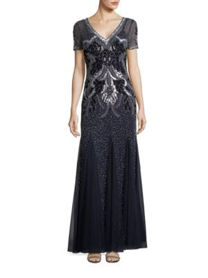 Embellished A-Line Gown by Adrianna Papell