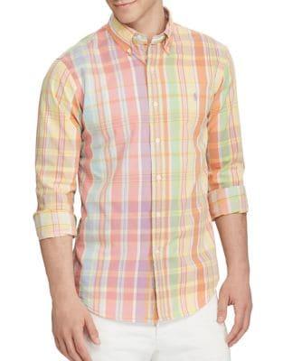 Plaid Cotton Twill Shirt by Polo Ralph Lauren
