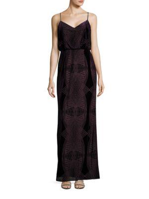 Velvet Blouson Gown by Adrianna Papell