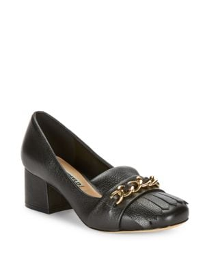 Buy Aduro Chain-Accented Heels by Karl Lagerfeld Paris online