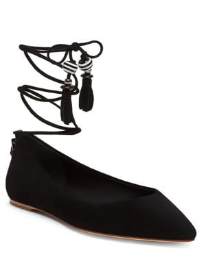 Skylar Lace-Up Point Toe Flats by B Brian Atwood