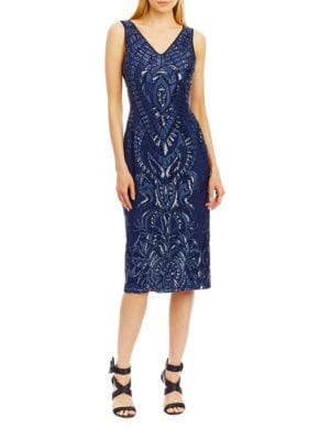 Sleeveless Sheath Dress by Badgley Mischka
