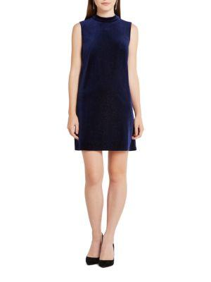 Contrast-Back Sleeveless Shift Dress by BCBGeneration