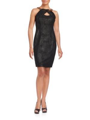 Cutout Halterneck Sheath Dress by JAX