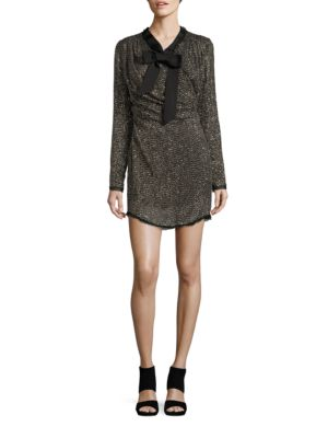 Long-Sleeve Beaded and Sequined Sheath Dress by Rachel Zoe