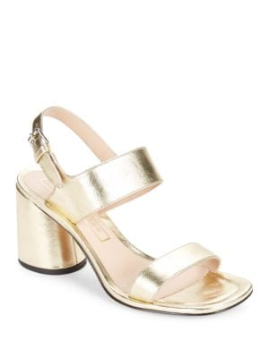 Buy Emilie Leather Sandal Heels by Marc Jacobs online