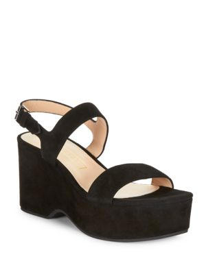 Buy Lily Suede Platform Wedges by Marc Jacobs online