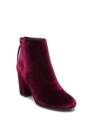 Cynthia Velvet Ankle Boots by Steve Madden