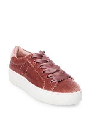 Buy Bertie Velvet Low-Top Platform Sneakers by Steve Madden online