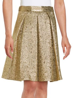 Metallic A-Line Skirt by Eliza J