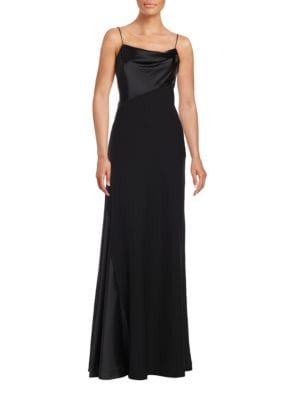 Satin-Trimmed A-Line Gown by Vera Wang